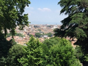 Rome, from the balcony at the American Academy in Italy