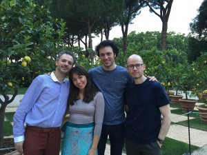 Post-quartet concert in Rome with Brooklyn Rider + AK