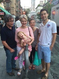Stopping for dinner with the fam to bid farewell to the lovely Ieva & Alma