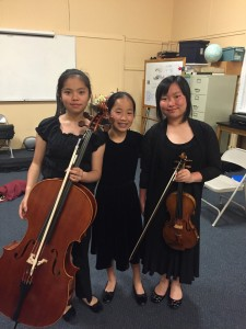 My super cute and crazy talented Dvorak F minor trio group