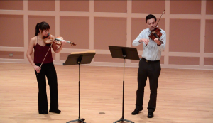 Performing, with brother Daniel, duos by Peter Child and Stan Skrowaczewski