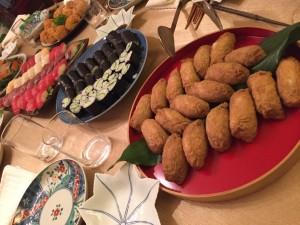 Homemade sushi dinner, courtesy of the Ishidas!