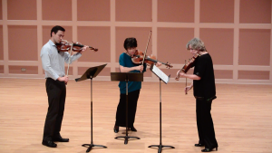 The greatest viola trio ever created; Danny Kim, Nobuko Imai, and Sally Chisholm performing Tertis' arrangement of Beethoven's Op. 87 trio, in honor of YNK