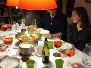 The First Dinner!  La Prima Cena!