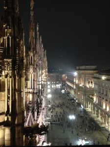 The view from the top of Il Duomo - La vista del terrazzo del Duomo
