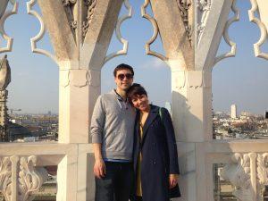 Me and D, atop Il Duomo in Milan...Daniele ed io sulla terrazza del Duomo a Milano...