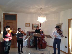 Our chamber music concert in Manerbio...Il nostro concerto di musica da camera a Manerbio...