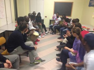 A salon evening with the young men from Cooperativa Selene...Il nostro incontro con i ragazzi di Cooperativa Selene...
