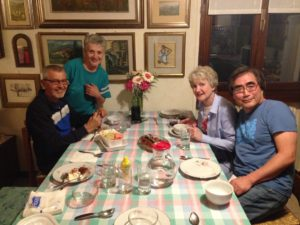 "Dinner with my ""Italian parents"" and my real parents! A cena con i miei ""genitori italiani"" e i miei genitori reali!"
