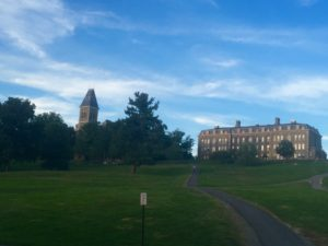 The famous Cornell Slope, first week of school!