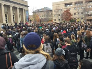 Cornell University election rally & protest