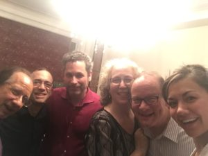 With Charlie Neidich, Mark Steinberg, Nicky Mann, Julia Lichten and David Geber post-Mozart and Schubert @ The Manns'